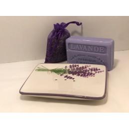 Porte savon en céramique rectangulaire
